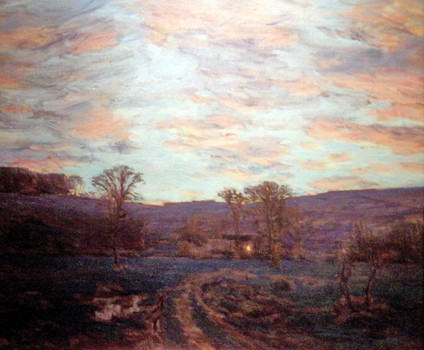 Charles Harold Davis Sundown Under a Blazing Sky